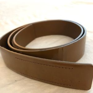 Vintage Prada patent leather belt
